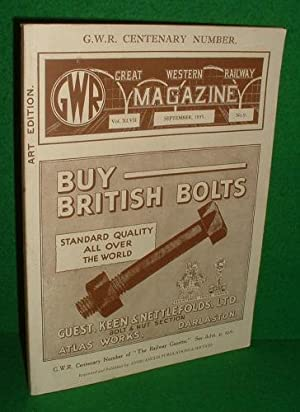 GREAT WESTERN RAILWAY MAGAZINE [ GWR Centenary Number, Art Edition ] FACSIMILE NO 9 , September 1...