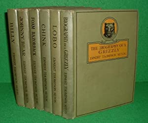 BIOGRAPHY OF A GRIZZLY, BILLY, JOHHNY BEAR, FOAM RAZORBACK, CHINK & LOBO [ 6 Vols ]