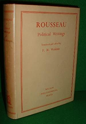 ROUSSEAU POLITICAL WRITINGS Containing The Social Contract, Considerations on the Government of P...