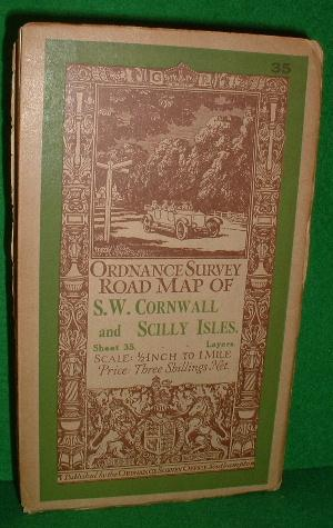 ORDNANCE SURVEY ROAD MAP OF S.W.CORNWALL AND SCILLY ISLES SHEET 35 1/2 INCH TO 1 MILE