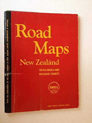 Road Maps New Zealand with index and