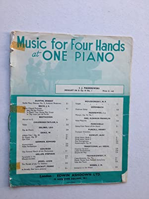 Music for Four Hands at One Piano: I J Paderewski