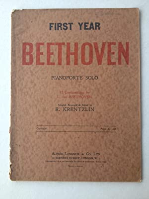 First Year Beethoven Pianoforte Solo 12 Compositions: Ludwig van Beethoven,