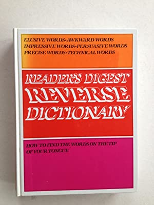 Reader's Digest Reverse Dictionary