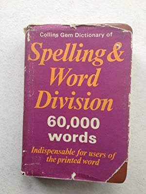 Collins Gem Dictionary of Spelling & Word: Susie B Marshall