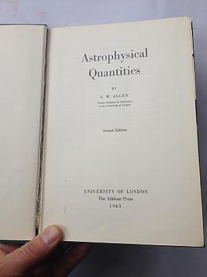 Astrophysical Quantities: C W Allen