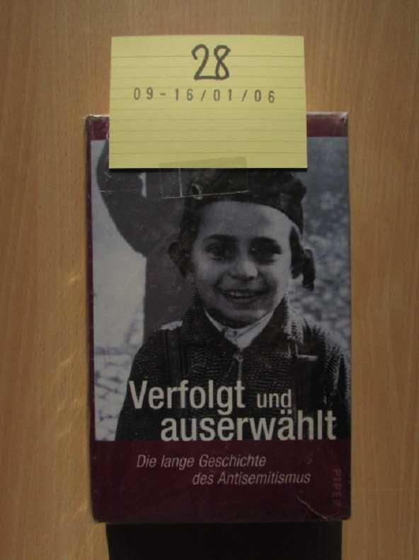 Verfolgt und auserwählt - die lange Geschichte des Antisemitismus - Messadié, Gerald