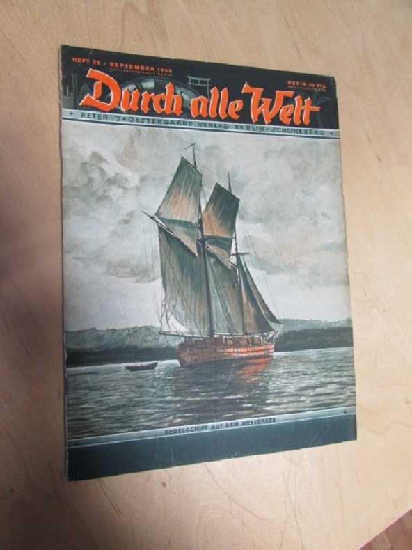 Durch alle Welt - Segelschiff auf dem: Petermann, Wilhelm: