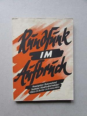 Rundfunk im Aufbruch - Handbuch des deutschen: Goebbels, Joseph und