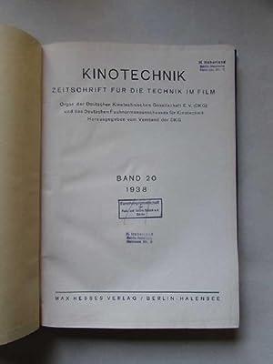 Kinotechnik - Zeitschrift für die Technik im Film (20. Jahrgang, Heft 1, 3 bis 12): Metz, L, W...