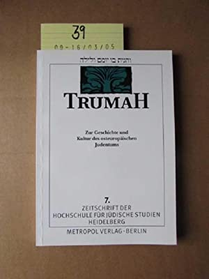 Trumah - Zur Geschichte und Kultur des: Prof. Dr. Graetz,