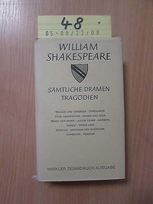 Sämtliche Dramen - Band III: Tragödien Troilus: Shakespeare, William: