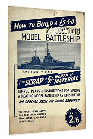 How to Build A Floating Model Battleship from scrap or 5s worth of material
