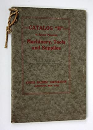 Curtis Machine Tools. Catalog