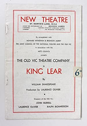 King Lear. Old Vic Theatre Company