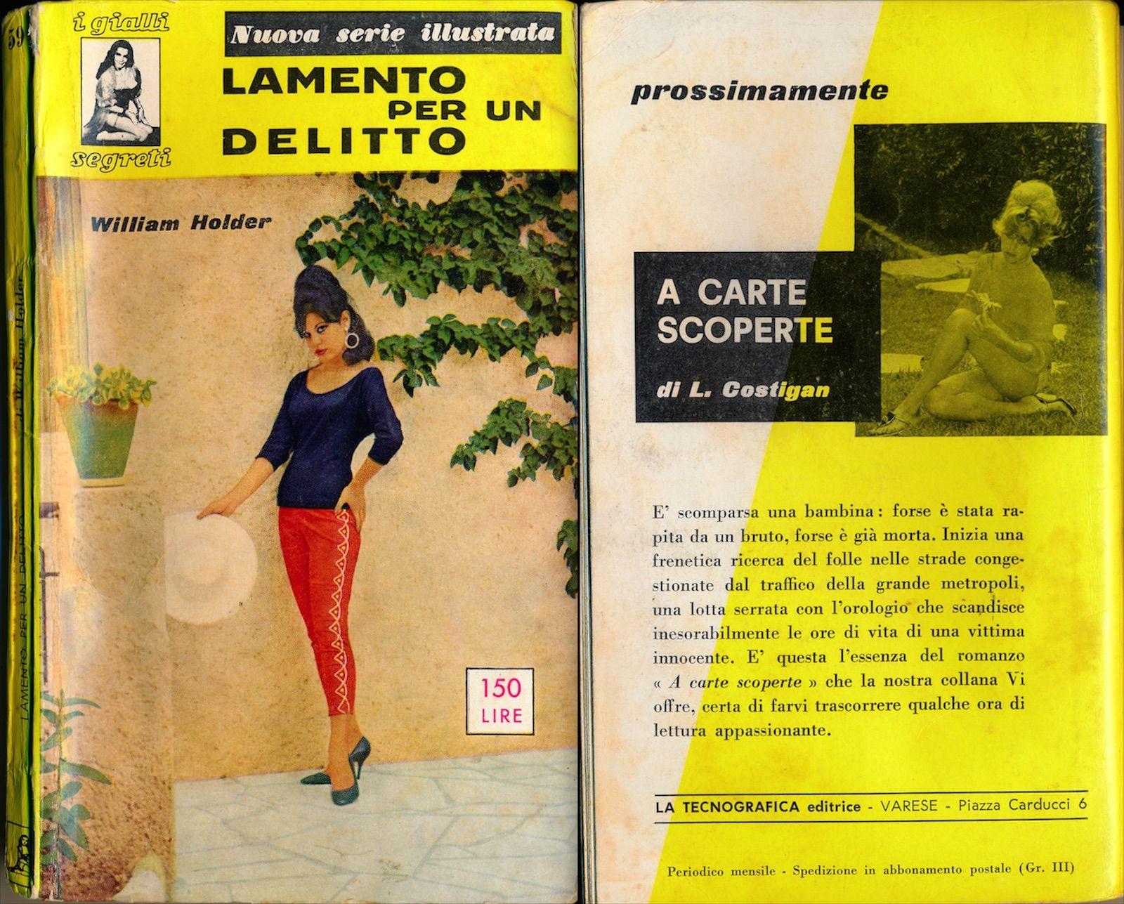 9ccbd4c07 Lamento per un delitto  The Case of the Dead Divorcee  (Vintage Italian  digest paperback)