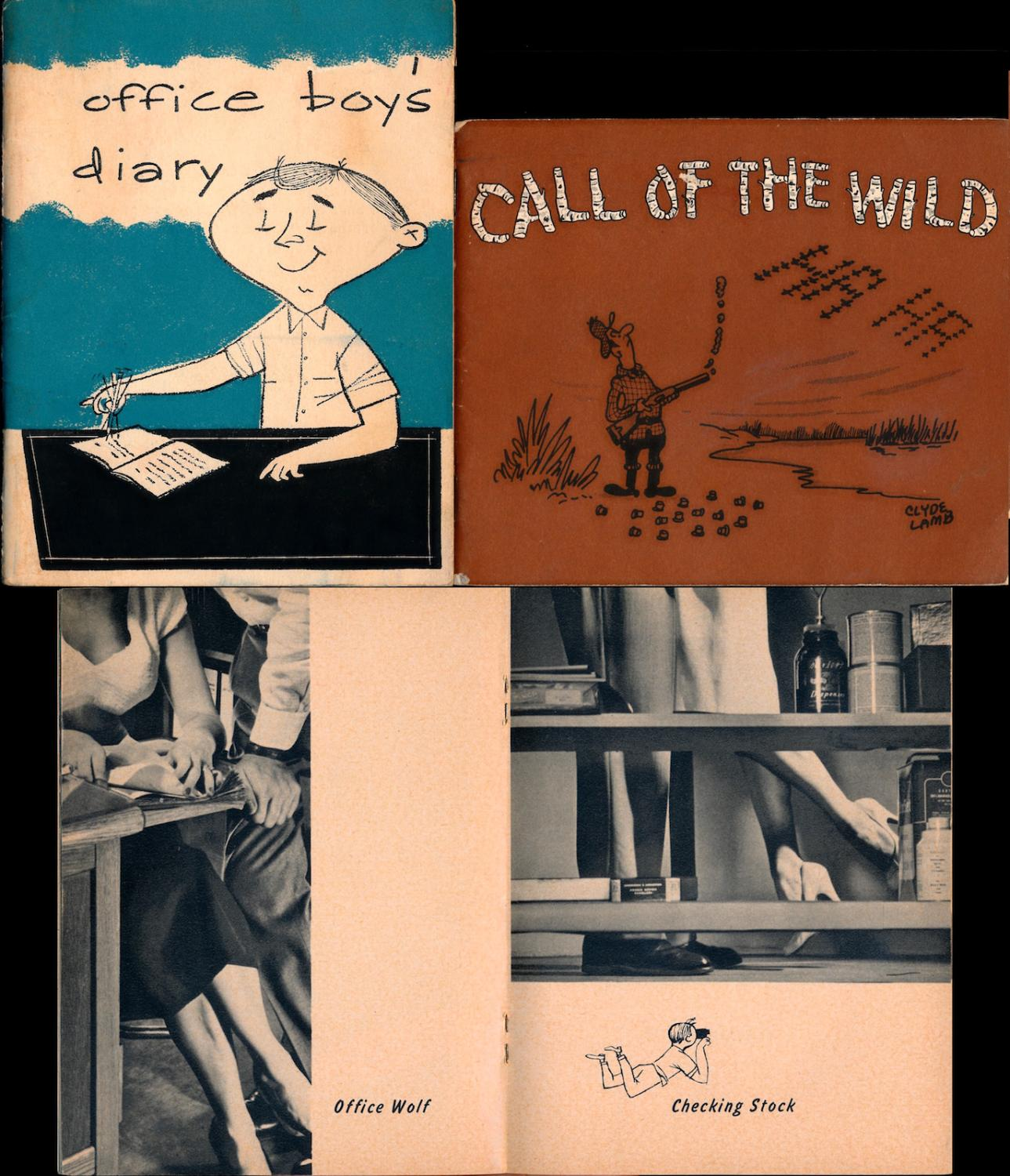 Office Boy's Diary / Call of the Wild (2 vintage pocket booklets, 1 pinup & 1 cartoon, 1957-58)