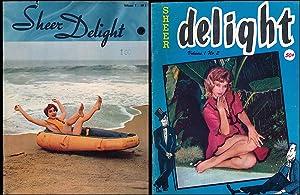 Sheer Delight (2 Vintage adult magazines, 1958): Batters, Elmer, and