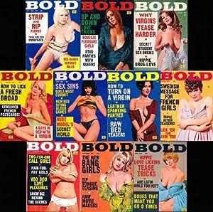 Bold (10 vintage adult digest magazines, 1968-69): Kenilworth, Paul (editor);