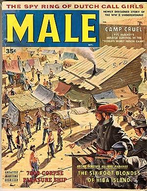 Male (Vintage adventure magazine, 1958): Friedman, Bruce J.