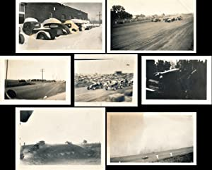 Midget racing, paddy wagons, rural landscapes (7 vintage photographs from Ralph Foster estate, ci...