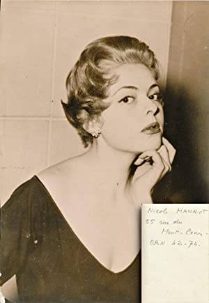 Nicole Henriot (Original photograph of the French actress, late 1950s)