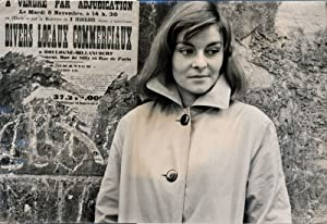 Francoise Brion, overcoat (Vintage photograph of the French actress, circa 1960s)