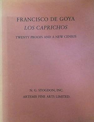 FRANCISCO DE GOYA LOS CAPRICHOS: TWENTY WORKING: Bareau, Juliet Wilson