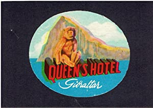 Queen's Hotel, Gibraltar - Vintage Hotel Luggage
