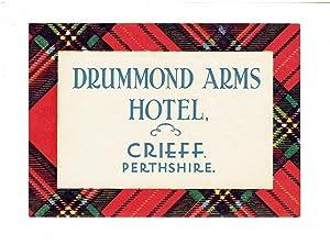 Drummond Arms Hotel, Crieff, Perthshire, Scotland -
