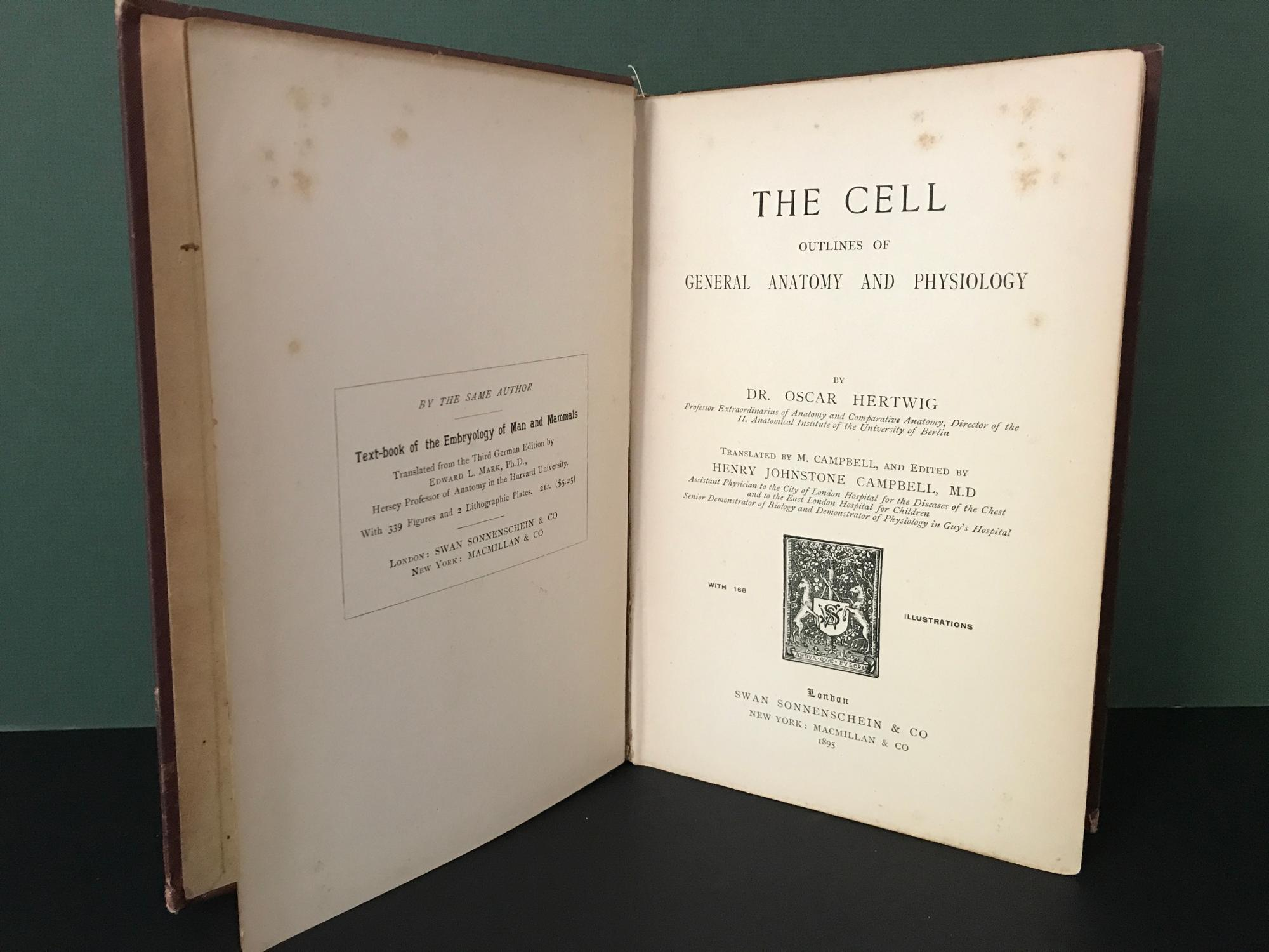 The Cell: Outlines of General Anatomy and Physiology by Hertwig, Dr ...