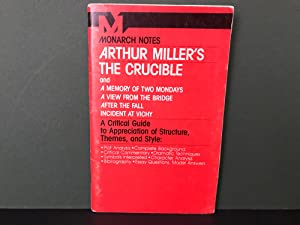 Arthur Miller's The Crucible, and A Memory of Two Mondays, A View from the Bridge, After the Fall...