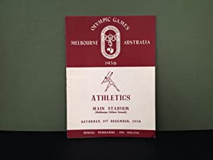 Olympic Games - Melbourne, Australia - 1956: Official Programme - Athletics - Main Stadium - Melb...
