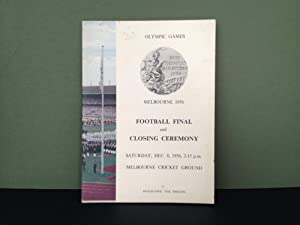 Olympic Games - Melbourne, Australia - 1956: Official Programme - Football Final & Closing Ceremo...