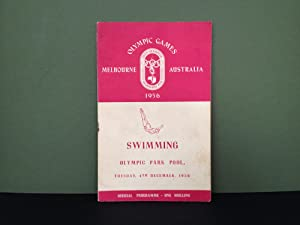 Olympic Games - Melbourne, Australia - 1956: Official Programme - Swimming, Diving & Water Polo -...