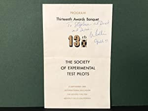 Program: Thirteenth Awards Banquet - The Society of Experimental Test Pilots - 27 September 1969 ...
