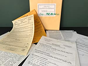 1966 Tax Return - Henry Miller's Personal File Copies (45 pages) / PLUS Unique IRS Document from ...