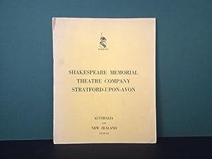 Shakespeare Memorial Theatre Company, Stratford-Upon-Avon - Australia: Shakespeare, William; Anthony