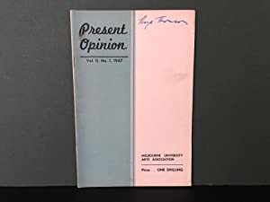Present Opinion: Vol. II, No. 1, 1947