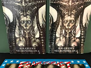 H.R. Giger's Necronomicon 2 (THREE ITEMS - Art Book German Edition, Text Booklet English Edition,...