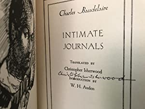 Charles Baudelaire: Intimate Journals [Signed]: Baudelaire, Charles (Translated by Christopher ...