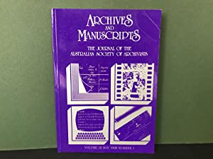 Archives and Manuscripts: The Journal of the Australian Society of Archivists - Volume 26, May 19...