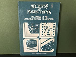 Archives and Manuscripts: The Journal of the Australian Society of Archivists - Volume 28, Novemb...