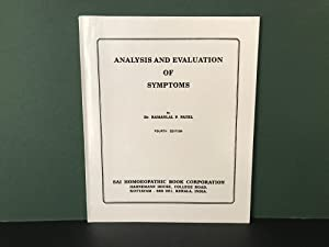 Analysis and Evaluation of Symptons (Fourth Edition): Patel, Ramanlal P.