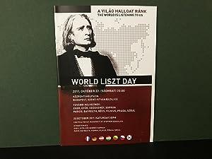 ORIGINAL PROGRAM for World Liszt Day -: Liszt, Franz (Ferenc);