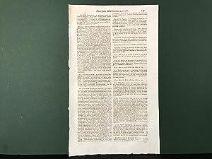 SINGLE LEAF from: Notitia Ecclesiastica Historiarum, Conciliorum,: Cabassutii, R.P. Joannis