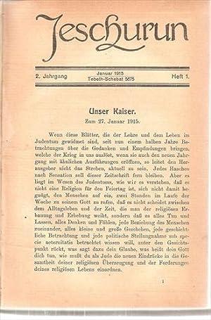 JESCHURUN - Monatsschrift fur Lehre und Leben: Wohlgemuth J. Ed.