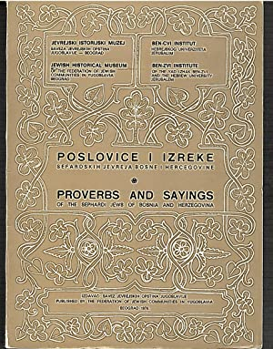 Proverbs and Sayings of the Sephardi Jews: Kolonomos Zamila (ed.)