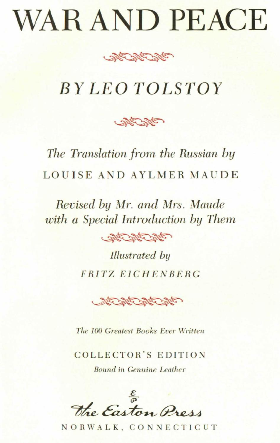 war and peace by leo tolstoy New bbc tv tie-in edition of the original masterpiece by leo tolstoy, with an  of tolstoy's enthralling epic war and peace is due to appear on our screens.