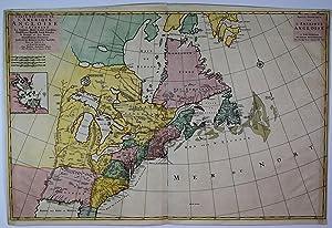 Carte Nouvelle de L'Amerique Angloise Contenant La: Mortier, Pierre